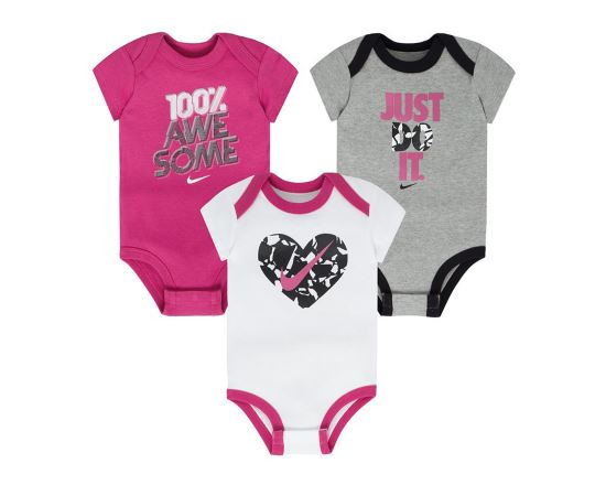 Nkg Swoosh Heart 3Pc Bodysuits