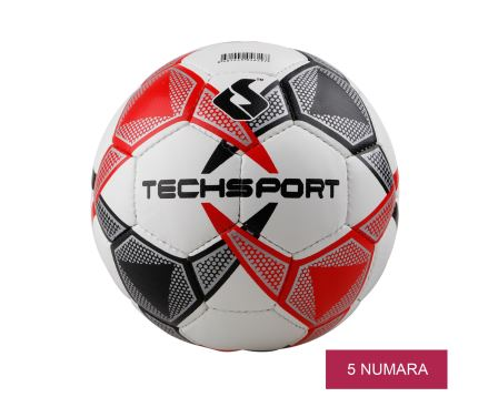 Red Gray Futbol Topu